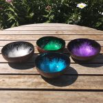 Coloured Patterned Coconut Bowls
